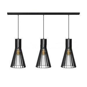 Zwarte hanglamp Charlie 3 lichts